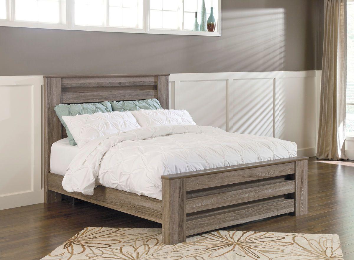 Zelen Warm Gray Queen Panel Bed Queen panel beds, Ashley