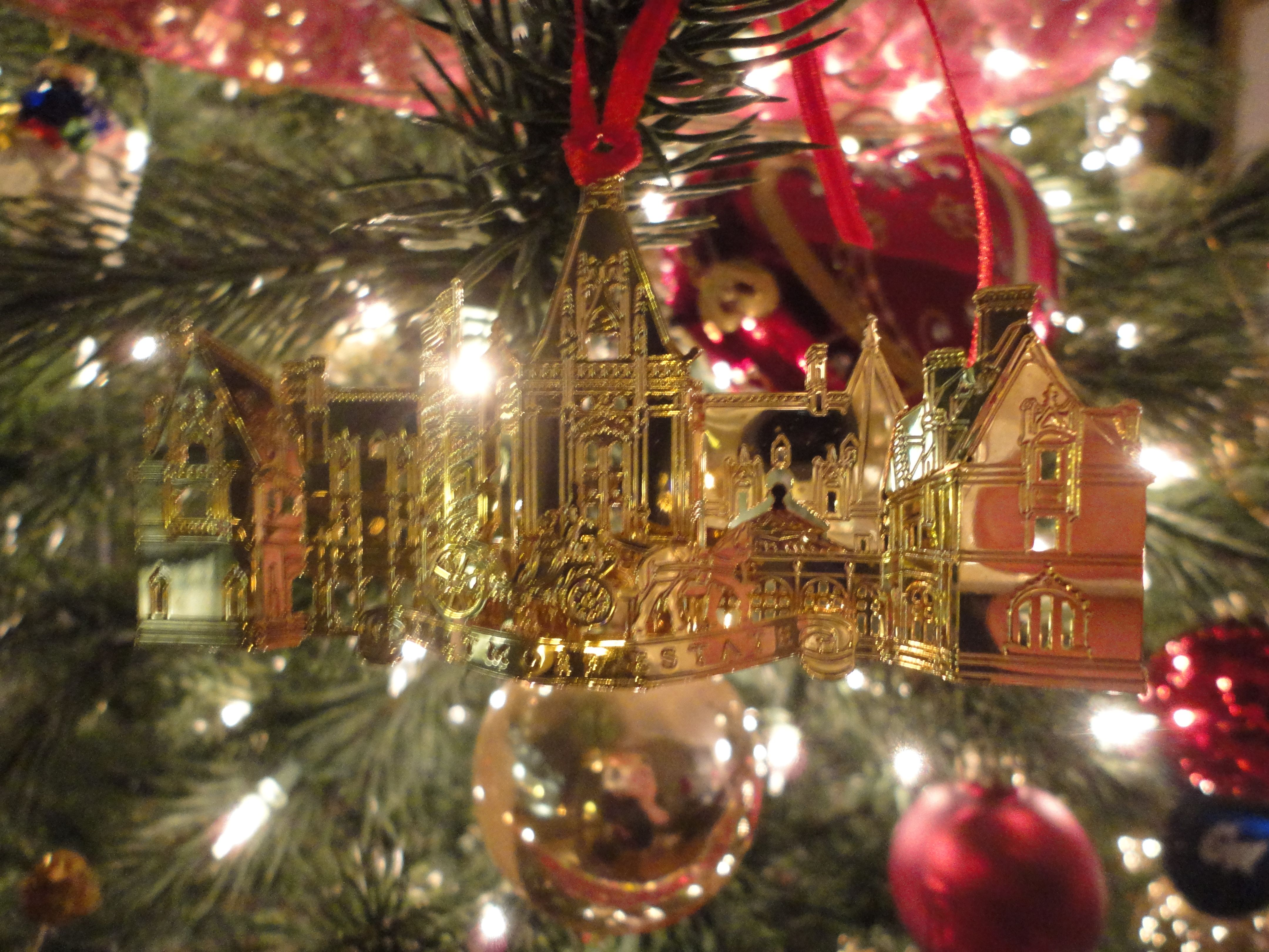 An ornament from the Biltmore in Asheville, NC.