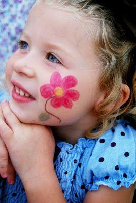 Easy Flower Face Paint : flower, paint, Blog:, Painting, Easy,, Designs,, Flowers