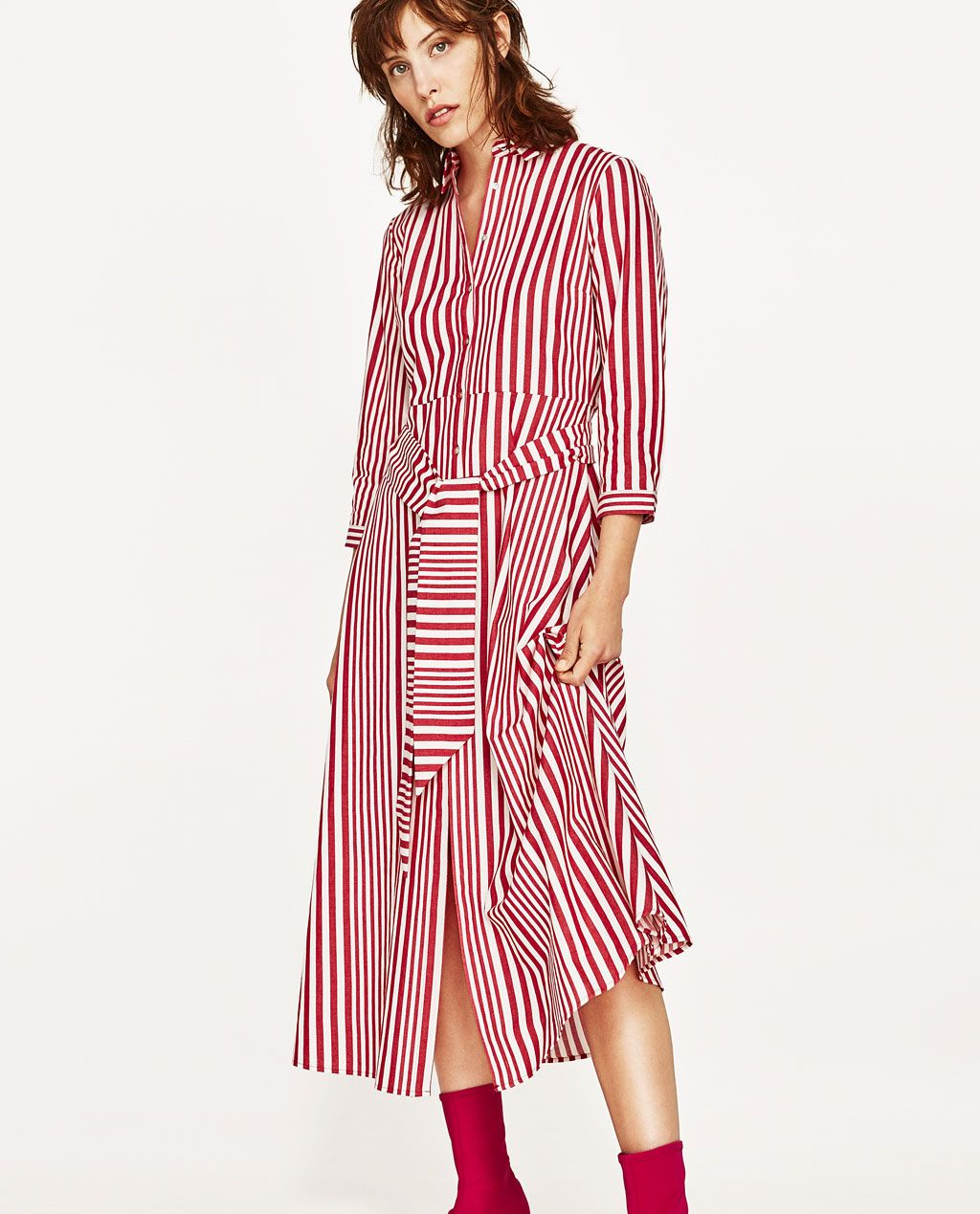 8d6470f228 Image 3 of STRIPED SHIRT-STYLE TUNIC from Zara | S/S 18 SECOND WINDS ...