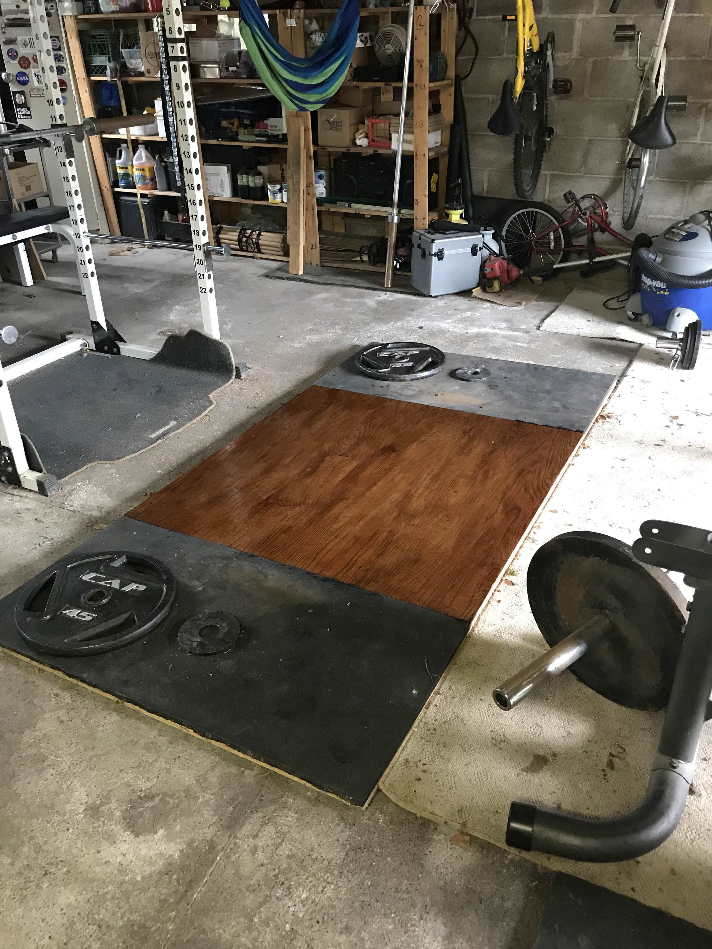 First steps towards decorating my platform home gym at home