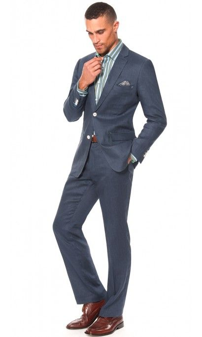 Great for spring/summer suit! Monte Carlo Slim Fit Linen Suit ...