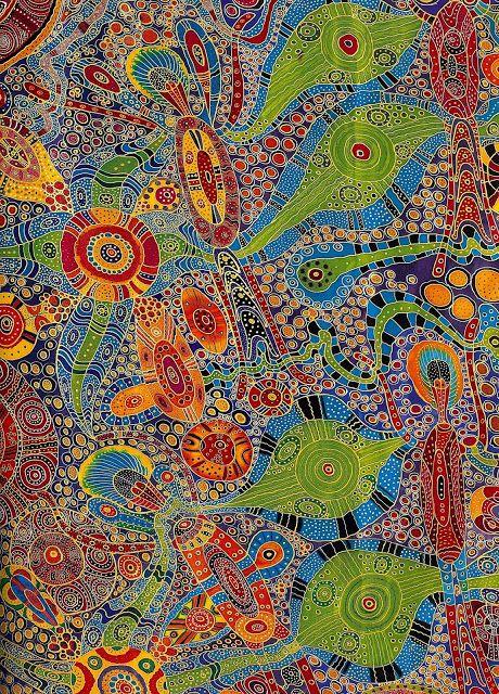 Photo de Art Quill Studio: Australian Aboriginal Silk Paintings[1-2]ArtClo