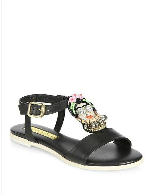 Frida Kahlo embellished sandals - Black Rupert Sanderson bzComH