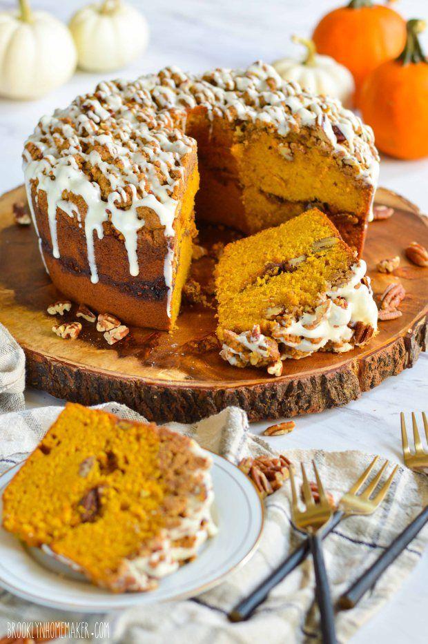 pumpkin streusel coffee cake Coffee cake, Pumpkin bundt