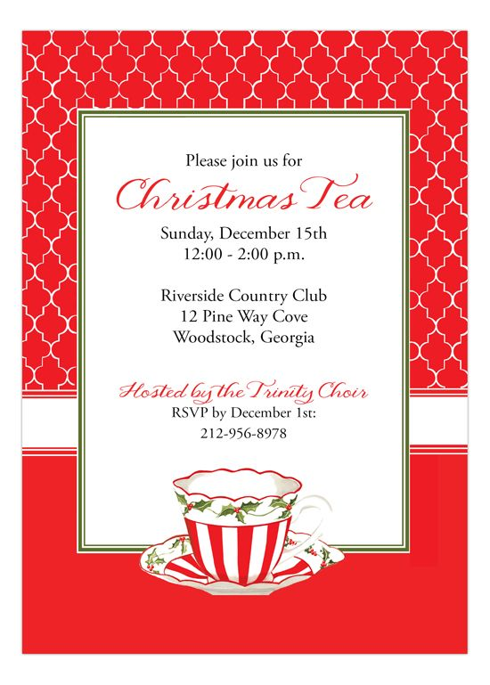 christmas tea invitation perfect for charlottes annual party