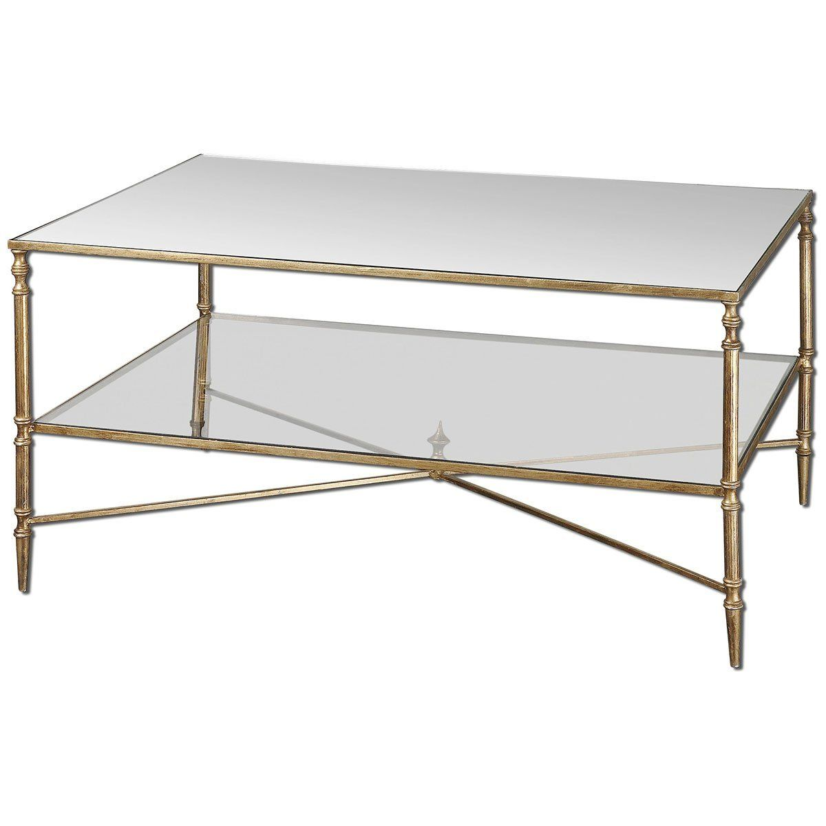 Robot Check Gold Coffee Table Coffee Table Mirrored Coffee Tables [ 1200 x 1200 Pixel ]