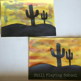 Desert Sunset Paintings #desertlife