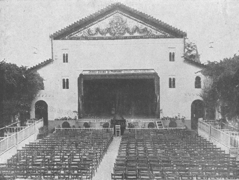 Año 1921: el teatro Portela estaba en el Prado de San Sebastián ...