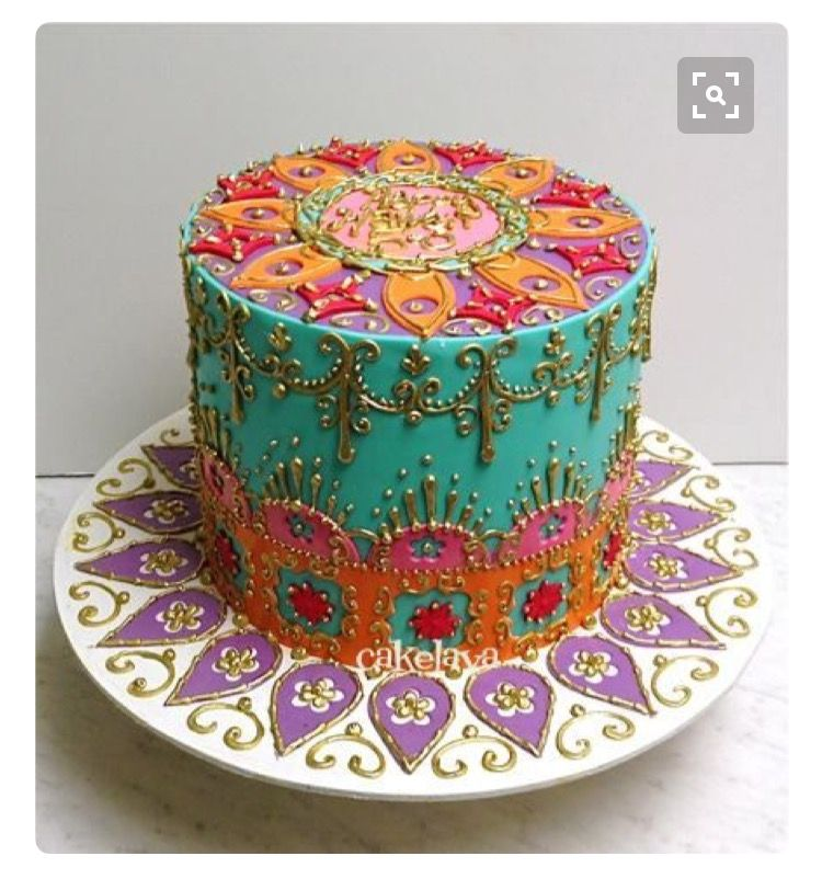 Mandala Iced Cake Cakes Cake Birthday Cake Cake Decorating