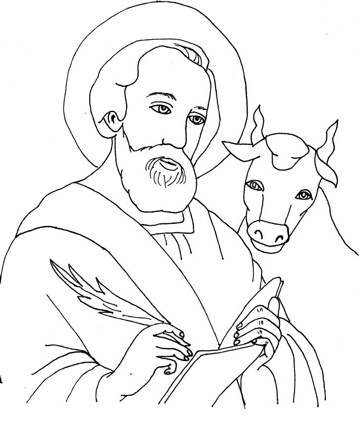 St Luke Coloring Sheets Saint Coloring Luke The Evangelist
