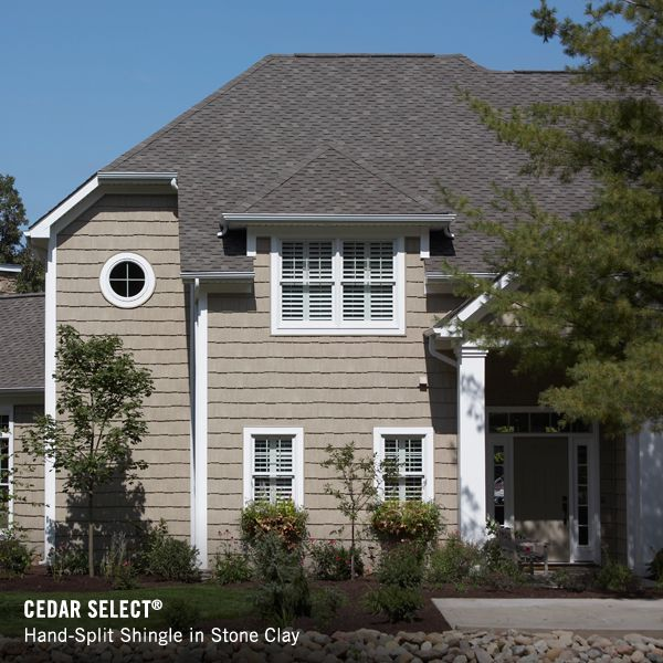 Lake Home Siding Ideas: Napco Stone Clay