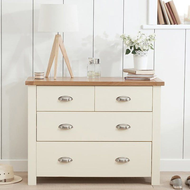 Sandringham Solid Oak Painted Cream Grey Cabinet Drawers