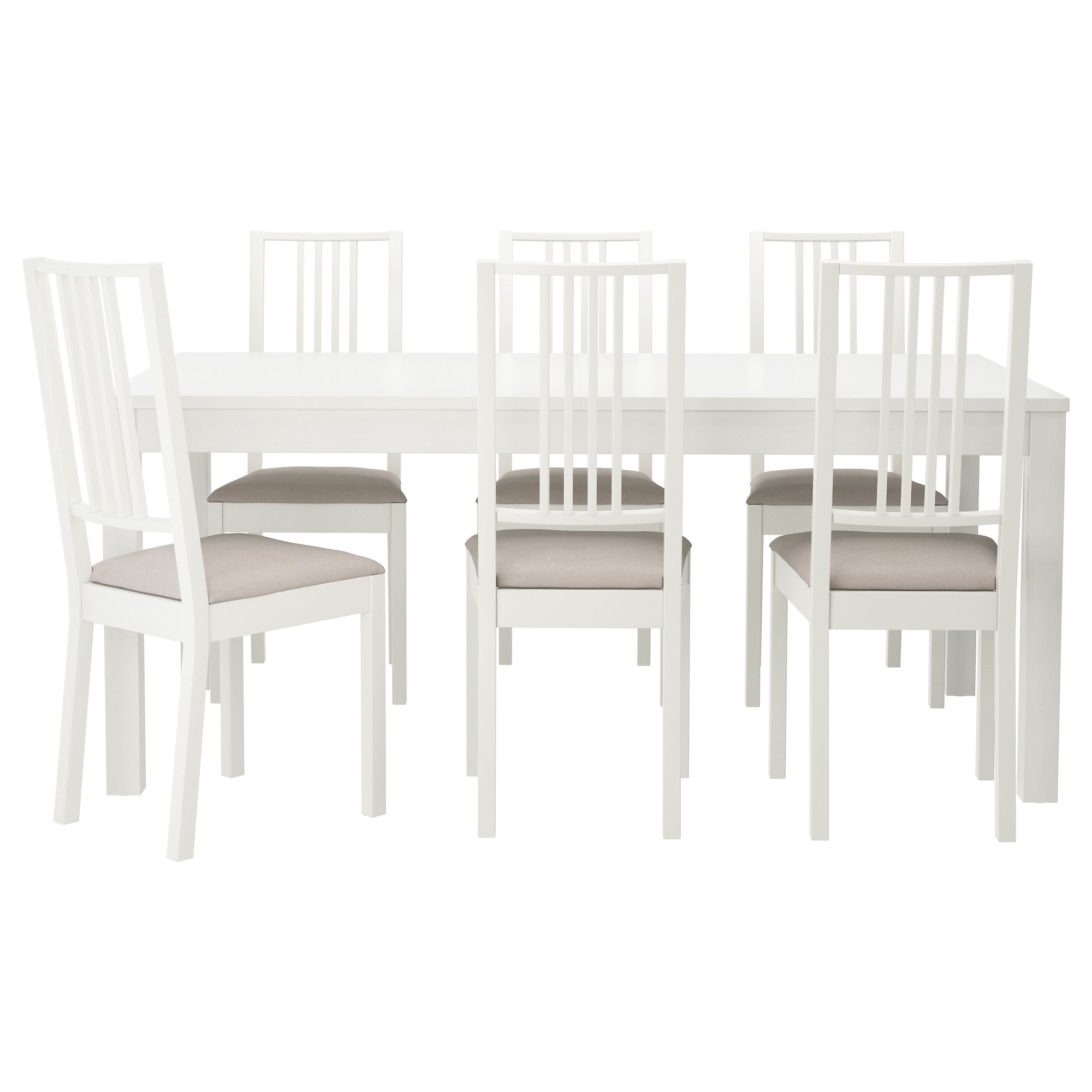 BJURSTA/BÖRJE Mesa y 6 sillas - blanco/Kungsvik arena - IKEA ...