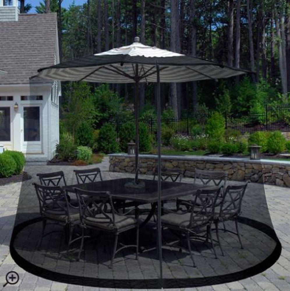 patio umbrella bug screen pest control outdoor dining space deck