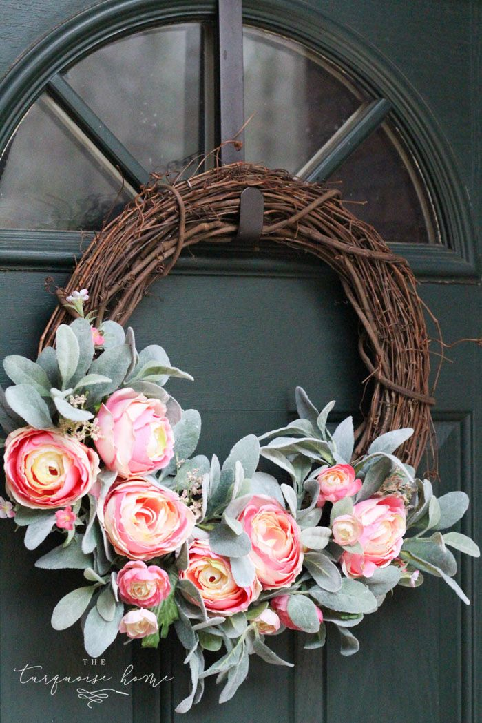 DIY Simple Spring Wreath with Peonies + 14 more spring