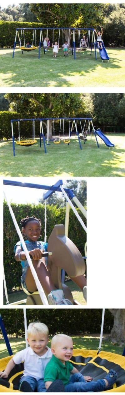 Swings Slides And Gyms 16515 Sportspower Super 8 Fun Metal Swing