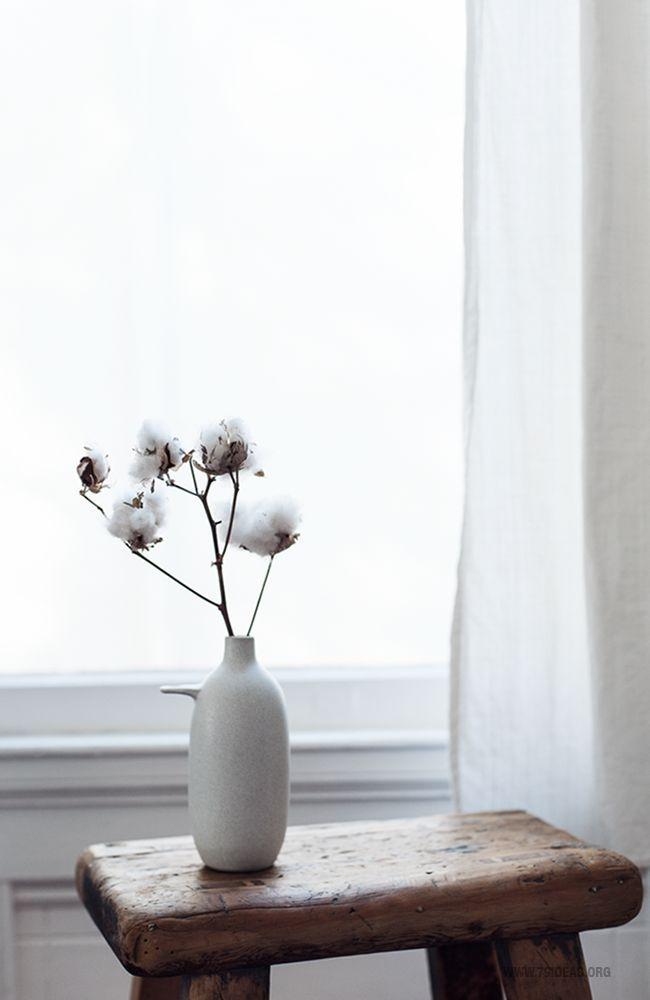 Baumwolle Deko Deko Ideen Minimalistische Dekoration
