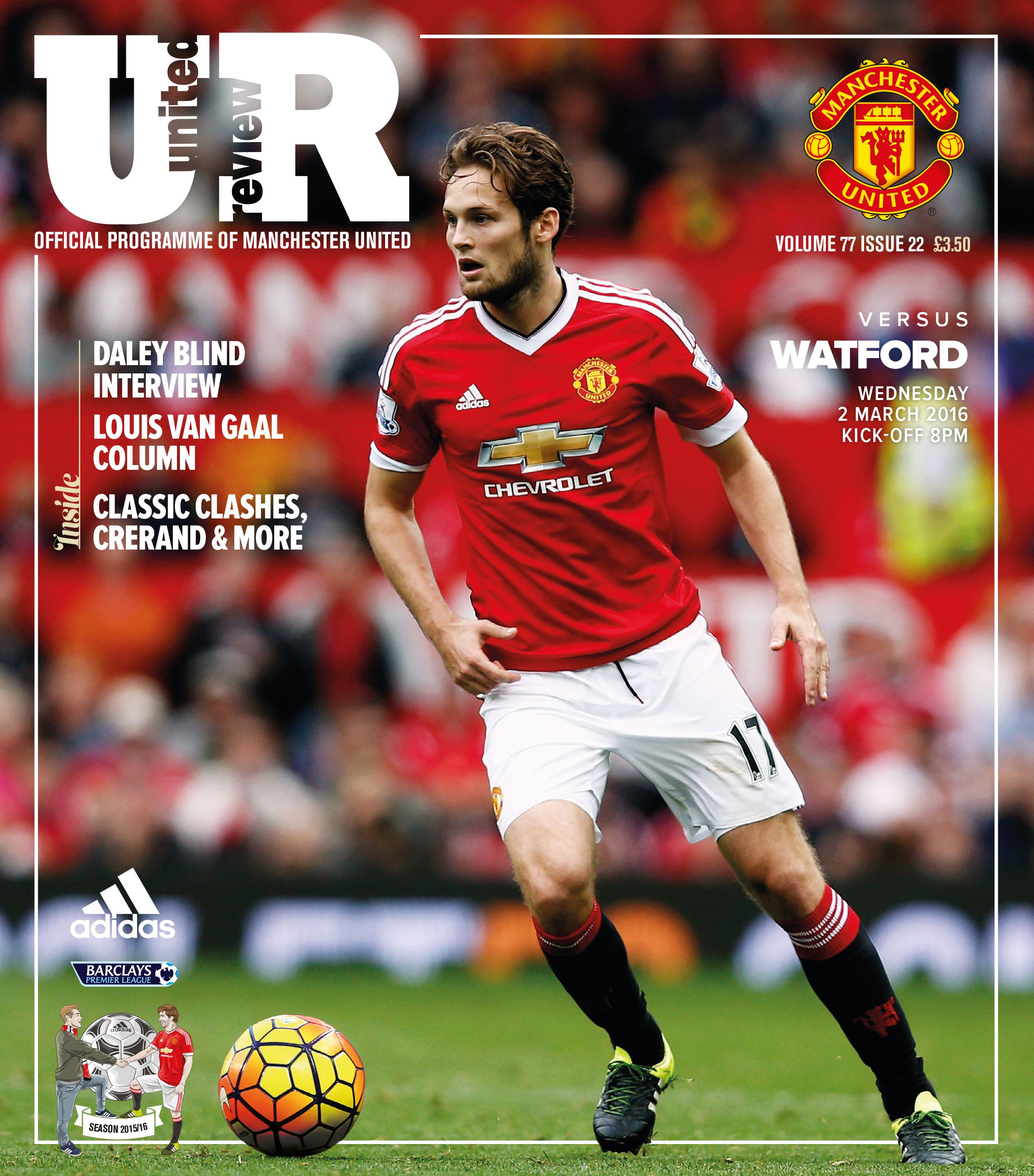 buy popular 90011 f601a United Review cover. @manutd v Watford, 2 March 2016.   MUFC ...