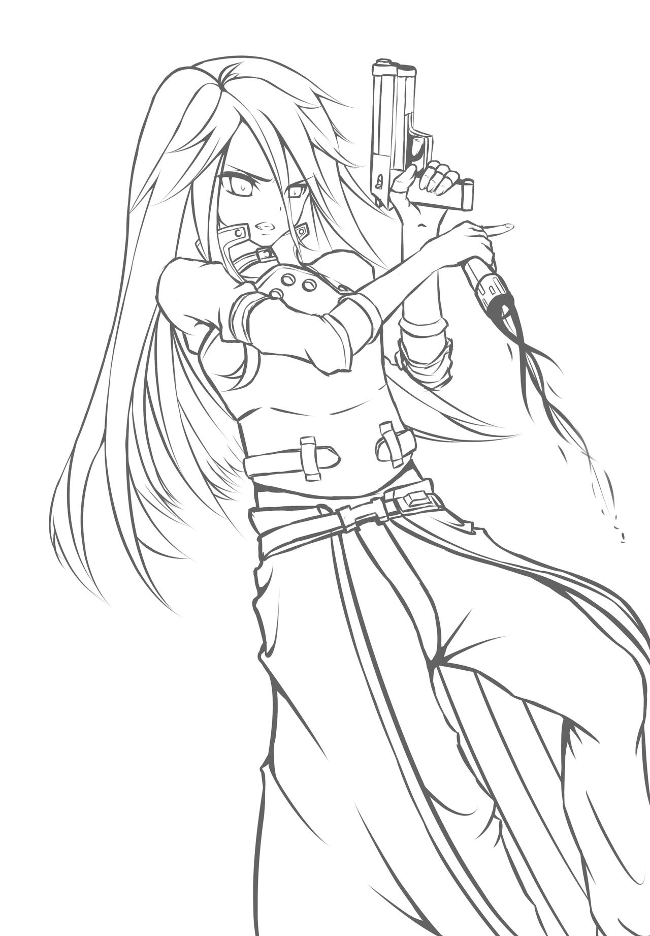 LineArt GGO Kirito