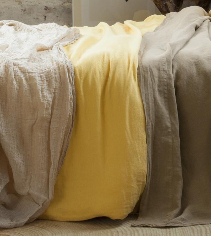 Nice Hemp Bed Sheets. Bed Sheets Set. Natural Color. Yellow Bed Sheets  Comfortable And Soft