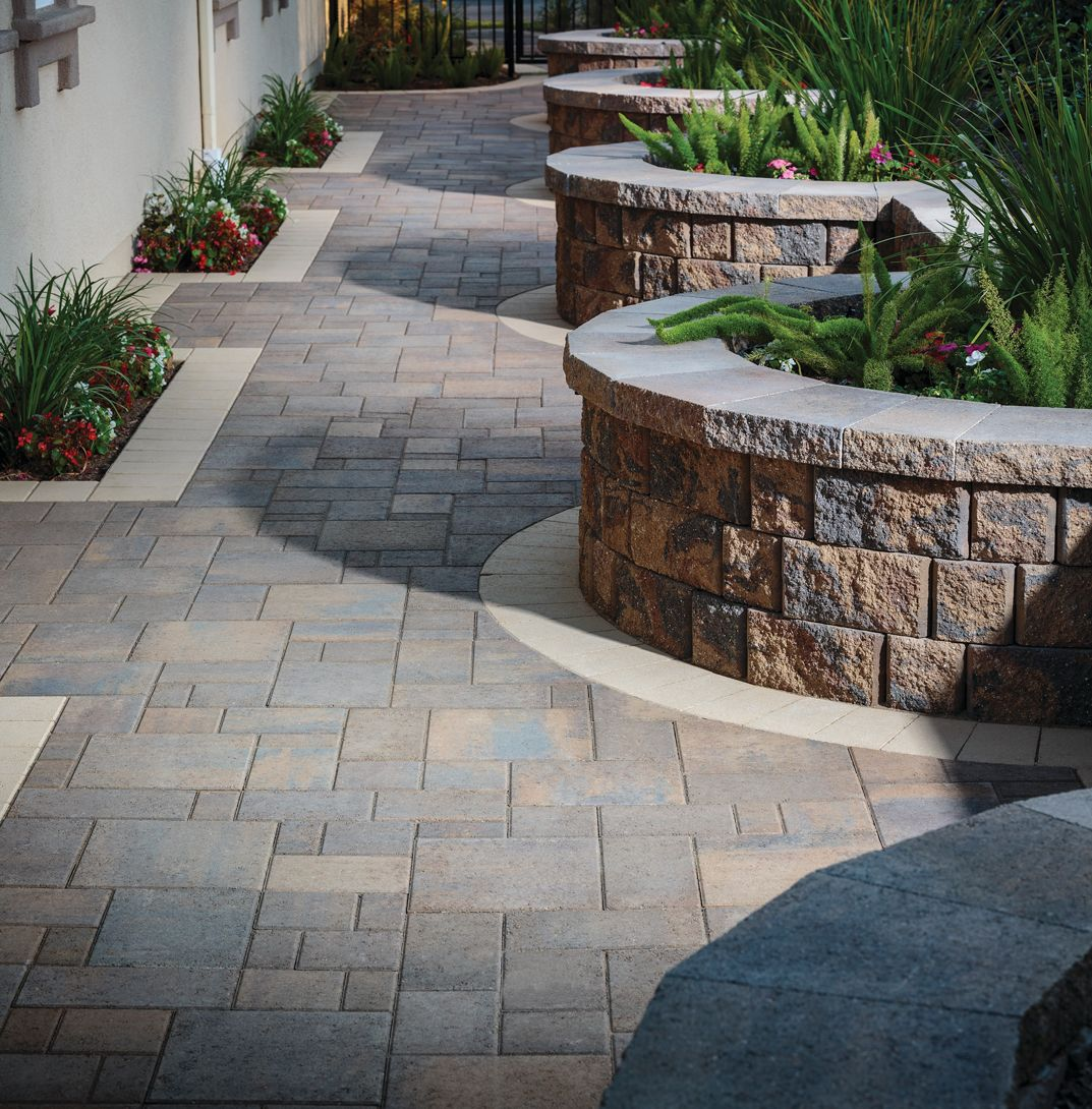 How To Add Intrigue To Your Outdoor Living Space With Paver Patterns Patio Pavers Design Diy Landscaping Outdoor Living Design