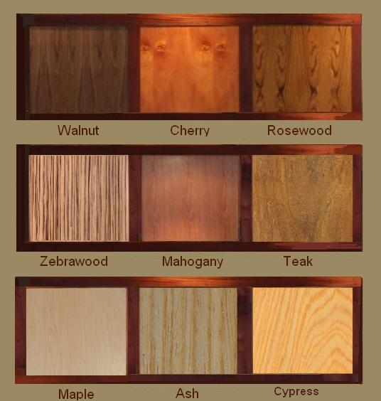 Fine Wood Veneer Color Chart Walnut Cherry Rosewood