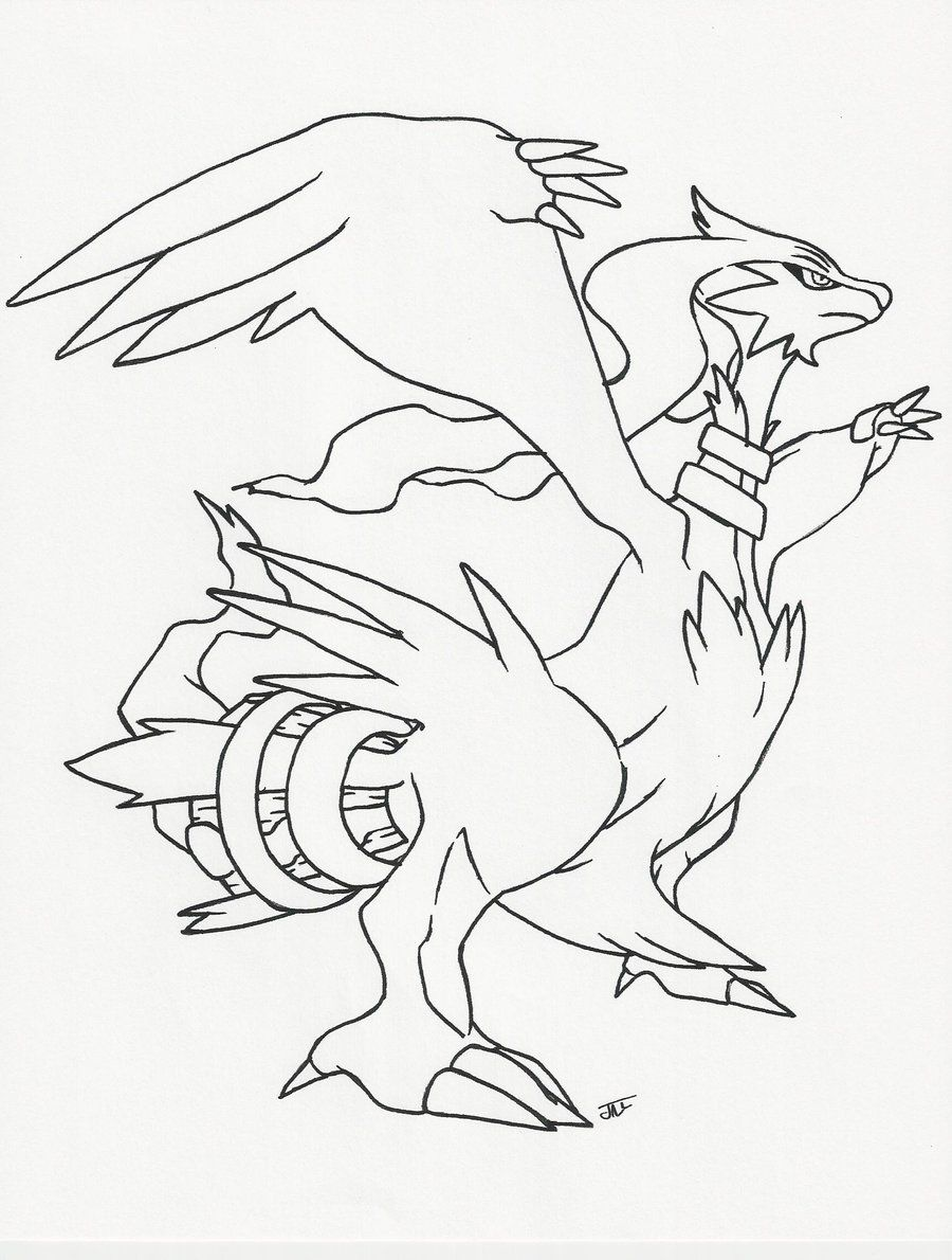 Reshiram Line Art By Neodragonarts On Deviantart Pokemon