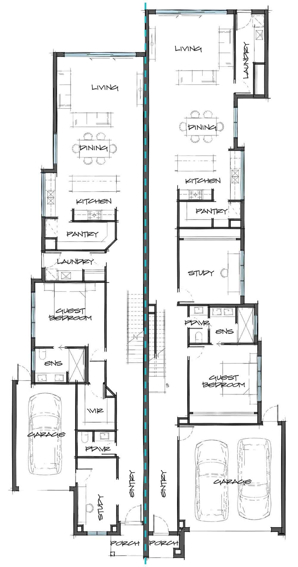 Dual Occupancy Carter Grange Homes Melbourne Dual Occupancy Duplex Plans Narrow House Plans