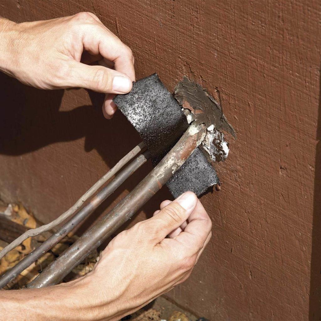 how to clean ac drain line with air compressor