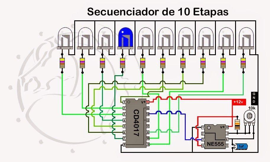 Circuito Vumetro : Vumetro con efecto analizador de espectro audio