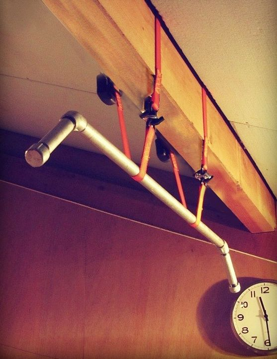 Diy ceiling pull up bar home gym project