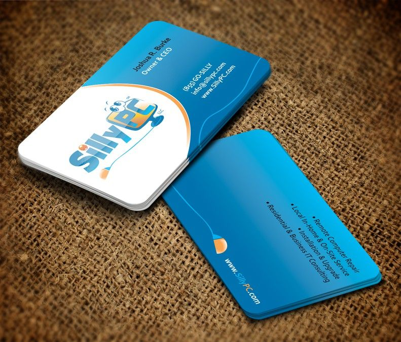 Catchy Business Cards For SillyPC LLC by pecas | LOGO DESIGN ...