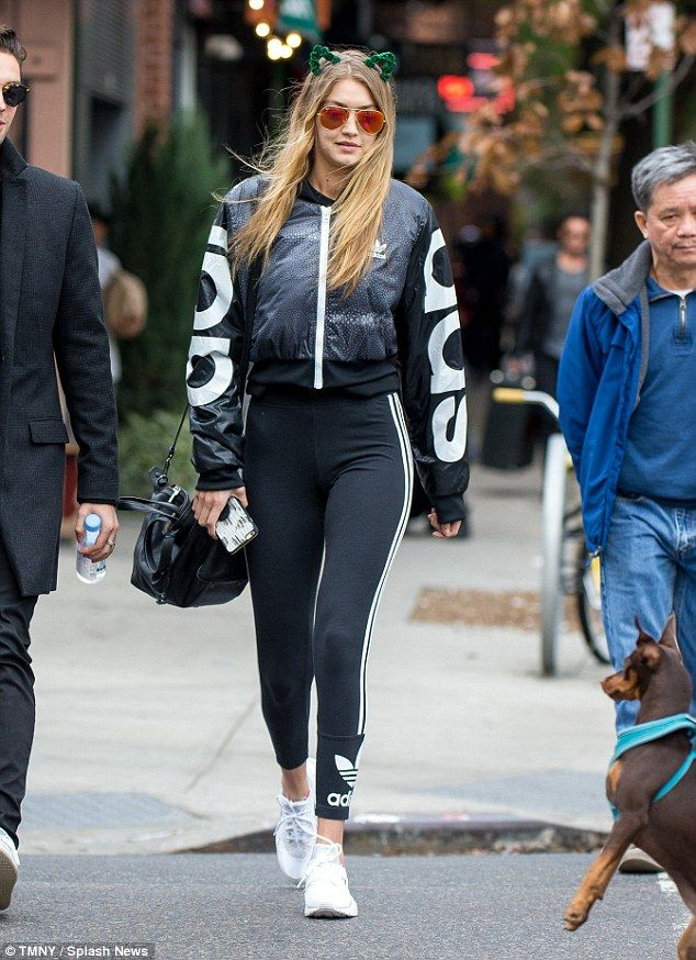 Gigi Hadid dons cat ears as she heads off for a Halloween lunch