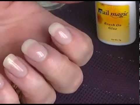 Acrylic Powder Dip Using Glue For Adding Strength To Nails Nail Tutorial You