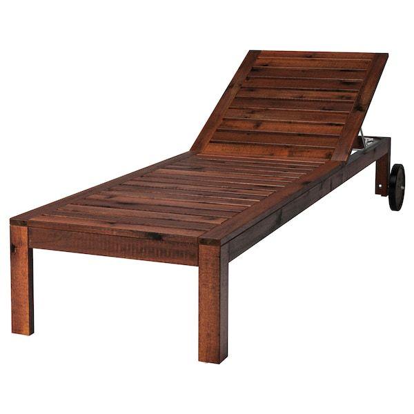 ÄPPLARÖ Chaise, brown stained brown IKEA | Ikea outdoor