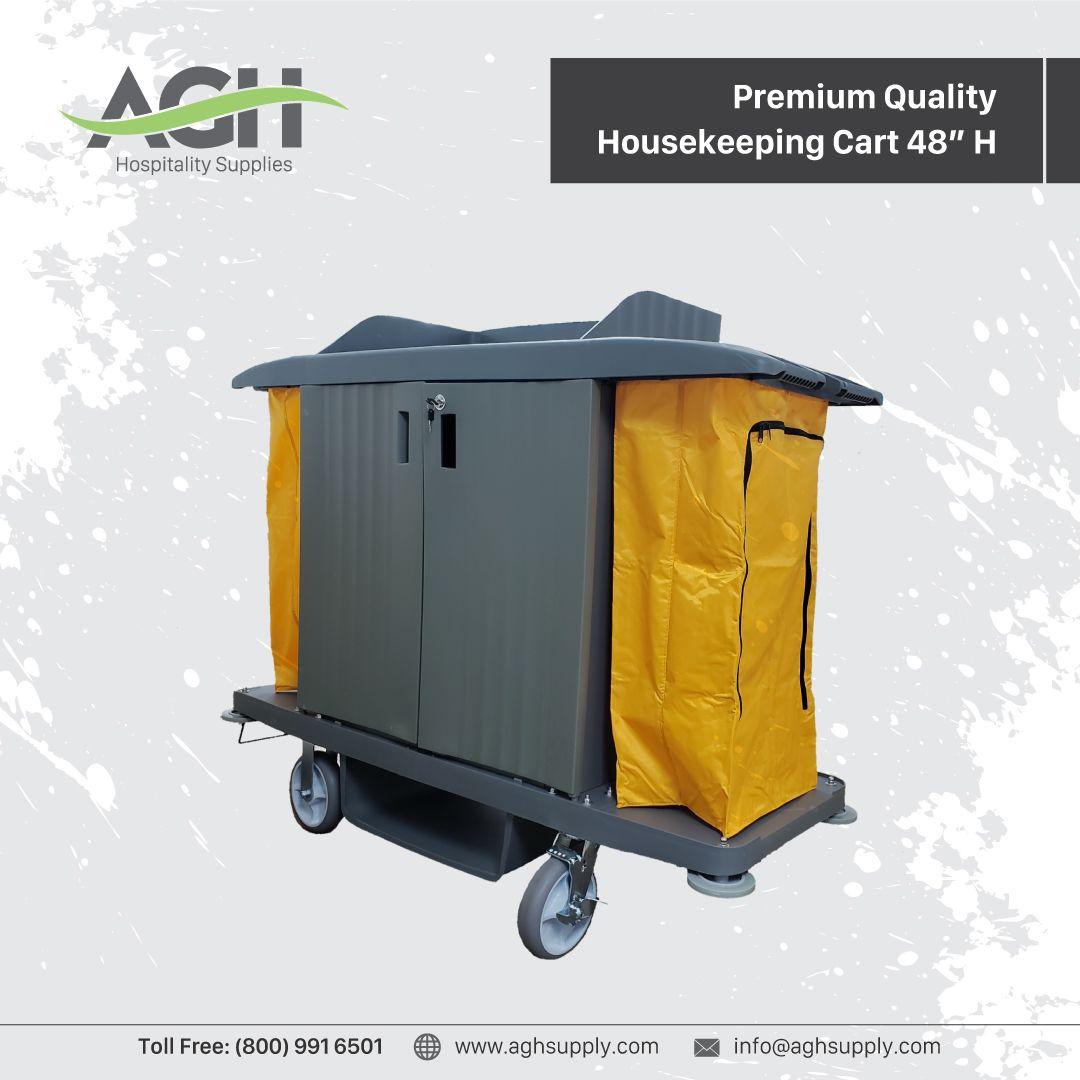 Premium Quality Housekeeping Cart 48 H Hospitality Supplies