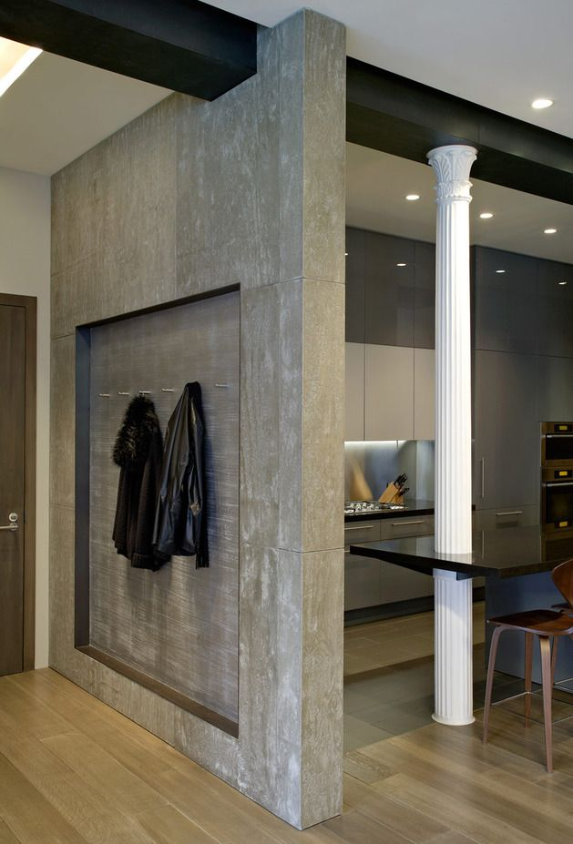 Concrete Walls Design concrete walls design earthanatomyaustralia flexible natural thin stone veneer and decor Classical Columns And Naked Concrete Walls Mix In Trendy Ny Loft Interior Design Inspirations And