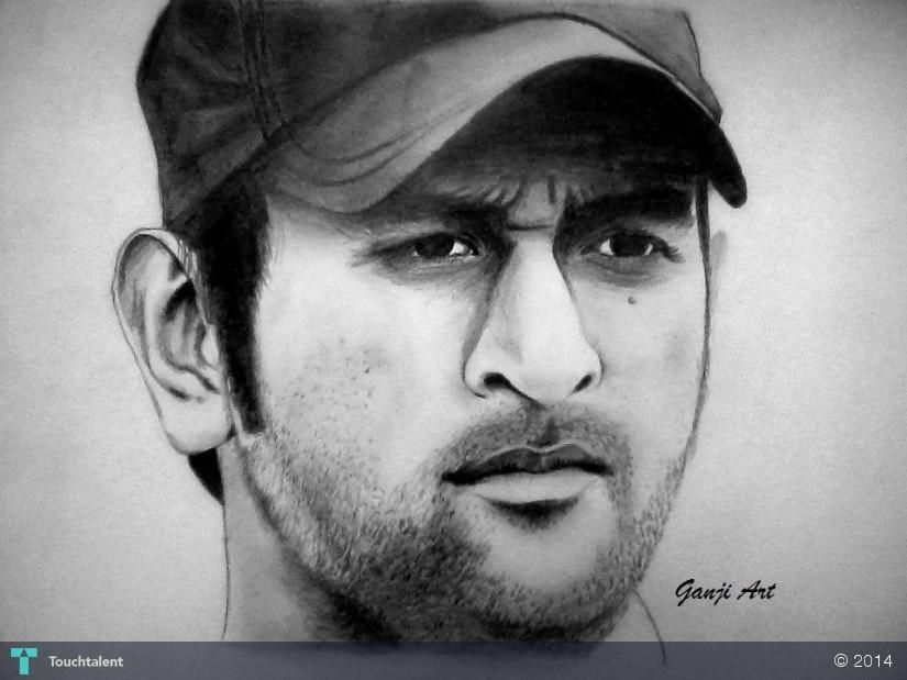 DHONI In Sketching By Shruti Ganji | Shubhansh Fdc | Pinterest | Sketches Premier Online And ...