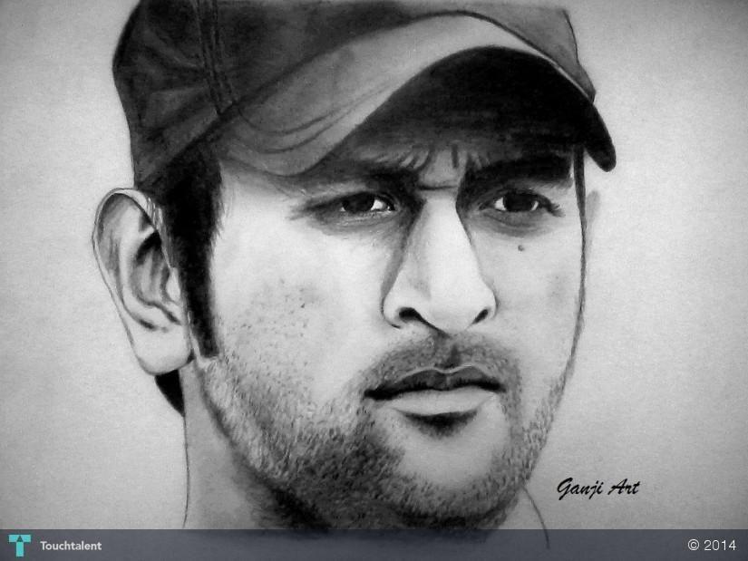 DHONI in Sketching by Shruti Ganji | Sketches, Art ...