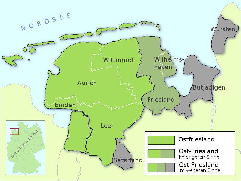 Nordsee Karte Niedersachsen.Ost Friesland Ostfriesland Wikipedia Ostfriesland