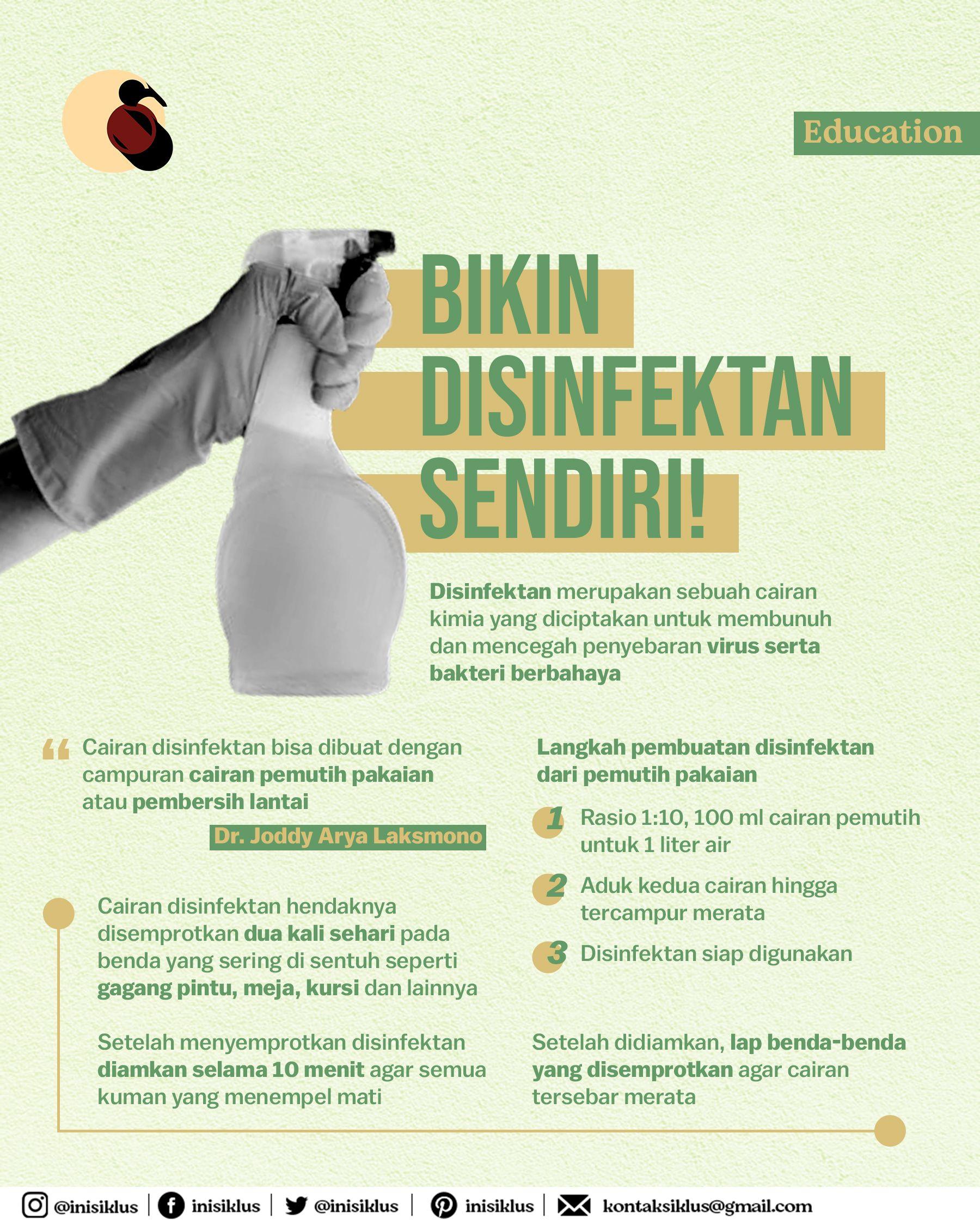Bikin Disinfektan Sendiri Kimia Pembersih Lantai Pemutih