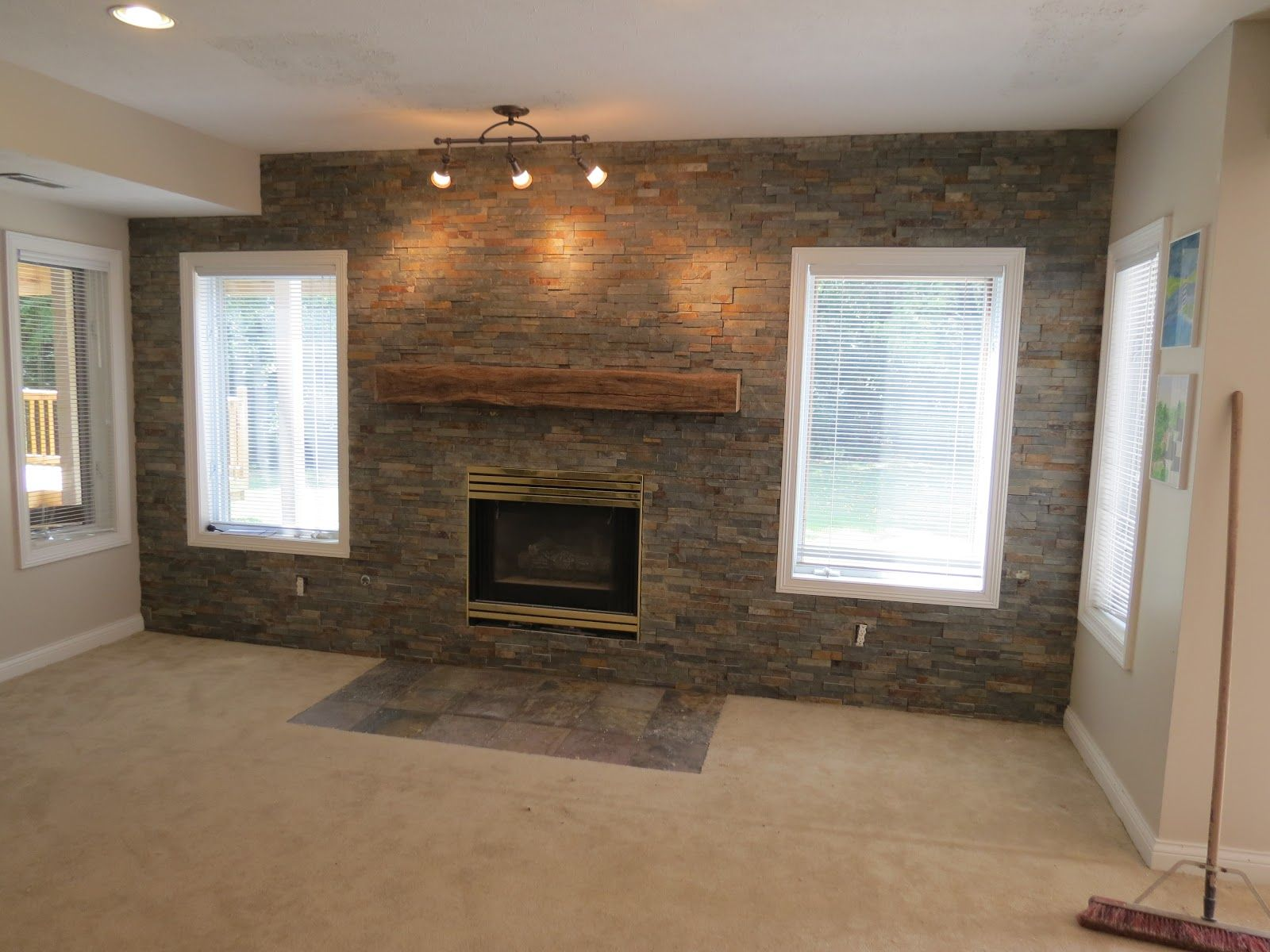 Ideas For Unfinished Basement Walls. Dayton Basement Remodel Stone Accent  Wall Syera Sale : Home