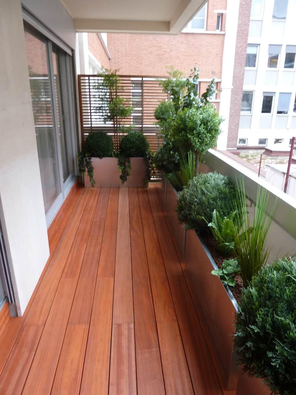 Photo of Terrasse von Scènes d'extérieur #Balcony Garden #Balcony Garden apartment #Bal…