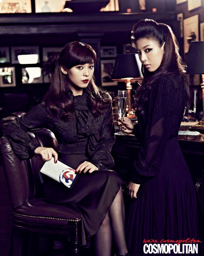 "[OFFICIAL][MAGAZINE] ""Breaking Dawn"" Wonder Girls' Sunye & Yubin – Cosmopolitan, September 2012! © Cosmopolitan Korea."
