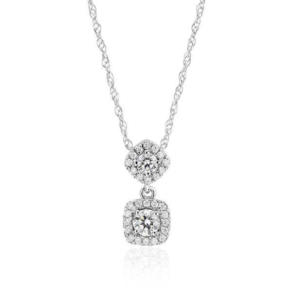 Blue Nile Diamond Drop Pendant ($630) ❤ liked on Polyvore featuring jewelry, pendants, 14k jewelry, blue nile, 14 karat gold jewelry, diamond jewellery and diamond jewelry