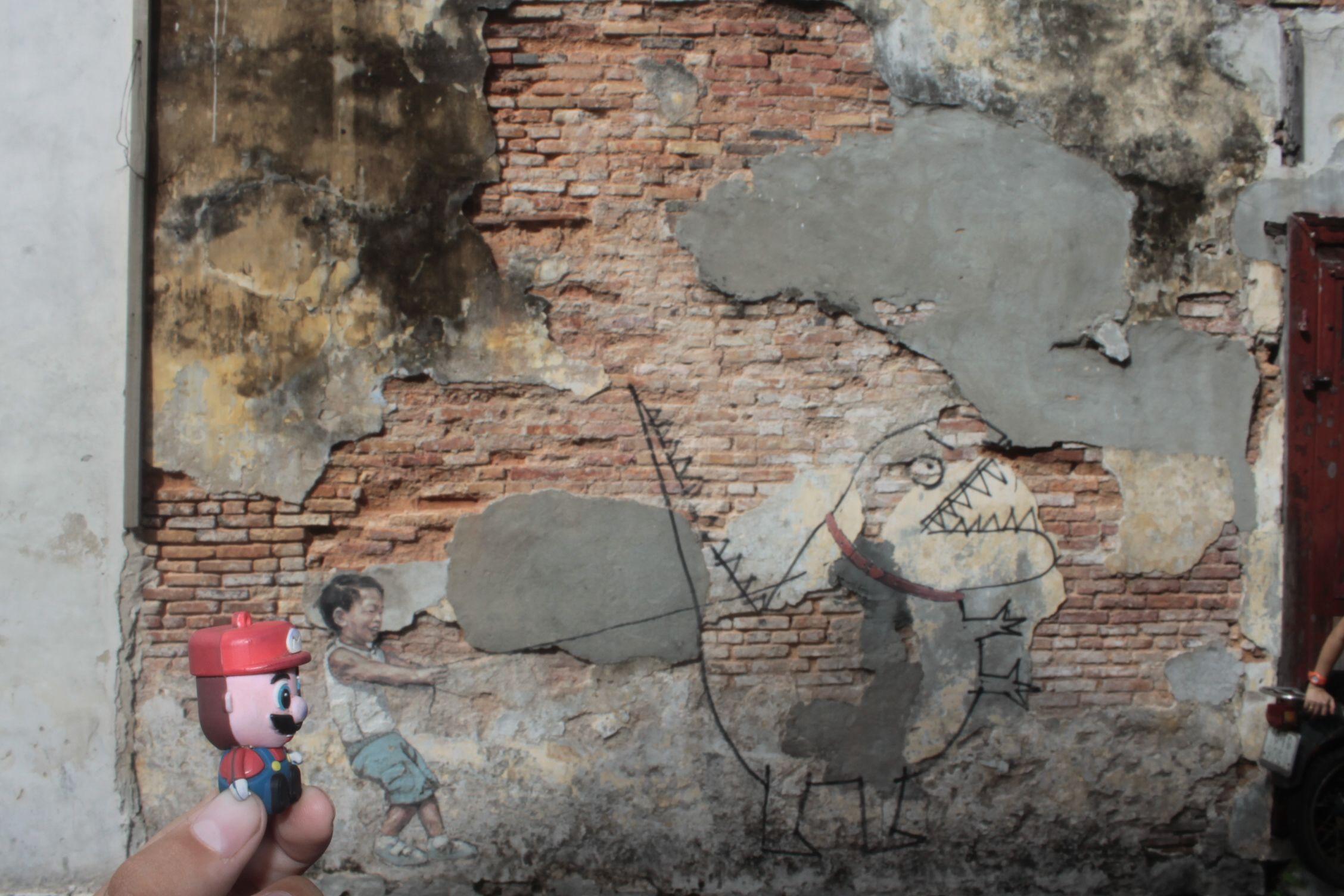 Visitando el arte callejero en Georgetown