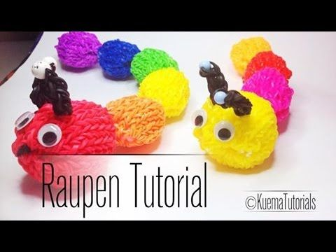 Rainbow Loom Raupen Anleitung by KuemaTutorials - YouTube