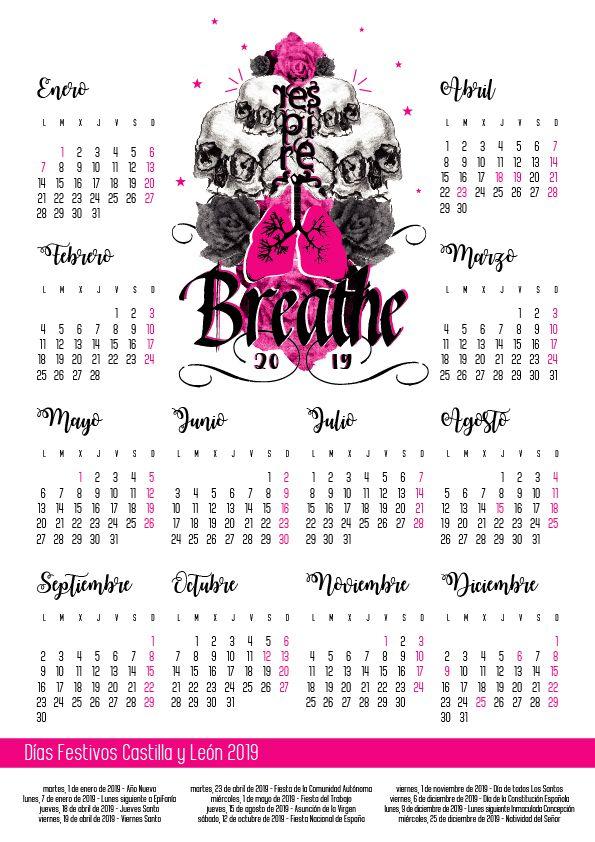 Calendario 2019 Castilla Y Leon.Calendario Laboral 2019 Castilla Y Leon Diseno Leones Calendario