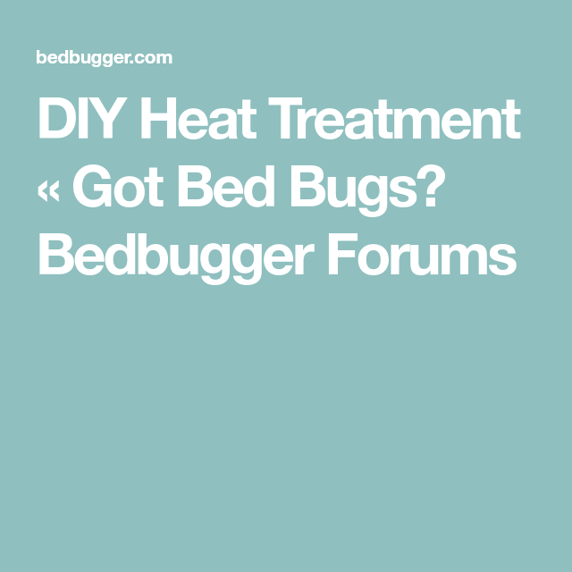 Diy Heat Treatment Got Bed Bugs Bedbugger Forums Bed Bugs